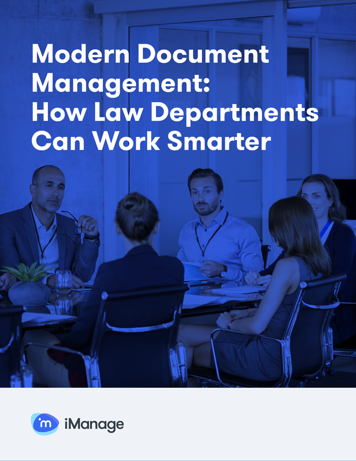 Modern Document Management: How Law Departments Can Work Smarter